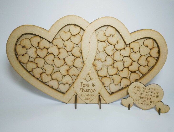 A personal favourite from my Etsy shop https://www.etsy.com/uk/listing/493455358/wedding-dropbox-guestbook-heart