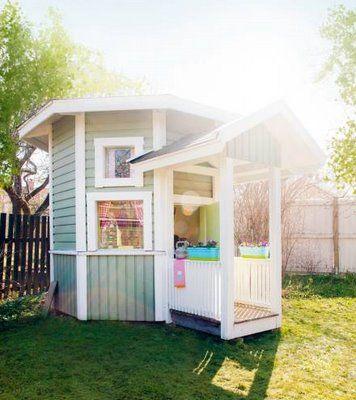 awesome playhouse (with sleeping loft!)