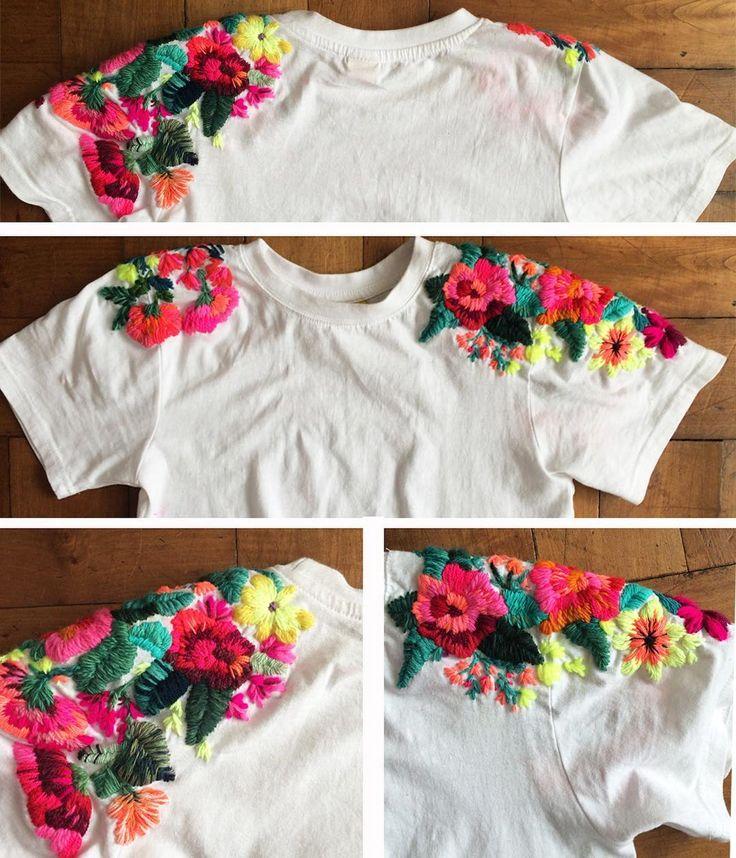 """334 Me gusta, 30 comentarios - @ignaciajullian en Instagram: """"Oficialmente terminada! ❤️❤️❤️❤️❤️❤️ . . . #amor #colorful #color #embroideredtshirt #embroidery…"""""""