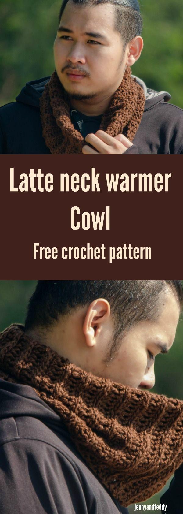 Free crochet neck warmer cowl pattern easy tutorial by jennyandteddy