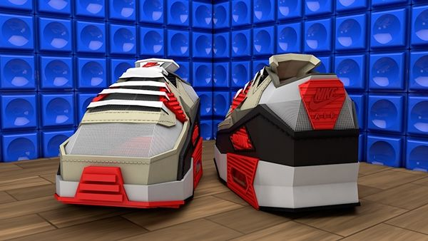 low poly Nike air max 90 by Denis Kowal, via Behance