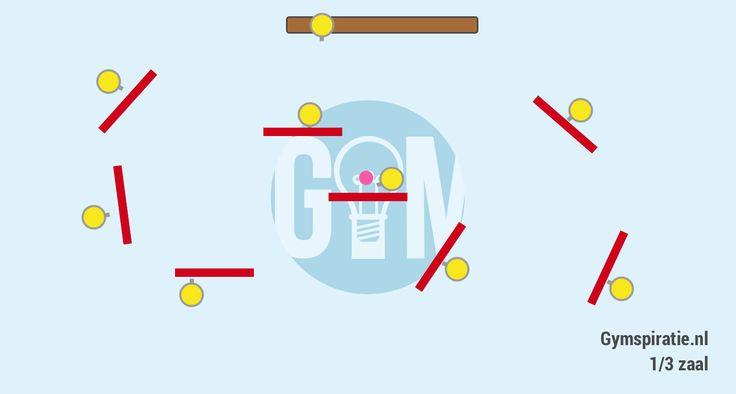Matjes trefbal - Leuk trefbalspel in één vak van de gymzaal.