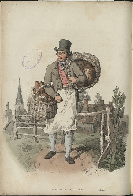 The Baker by WH Pyne, 1805. by Bristol Libraries, via Flickr