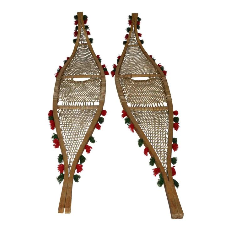 Indian Beaver Tail Snowshoes