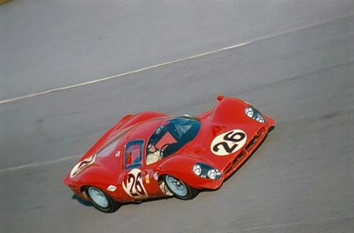 "theracing:  "" L.Bandini / J.Guichet - Ferrari 412p - Daytona 24 hours - 1967  """