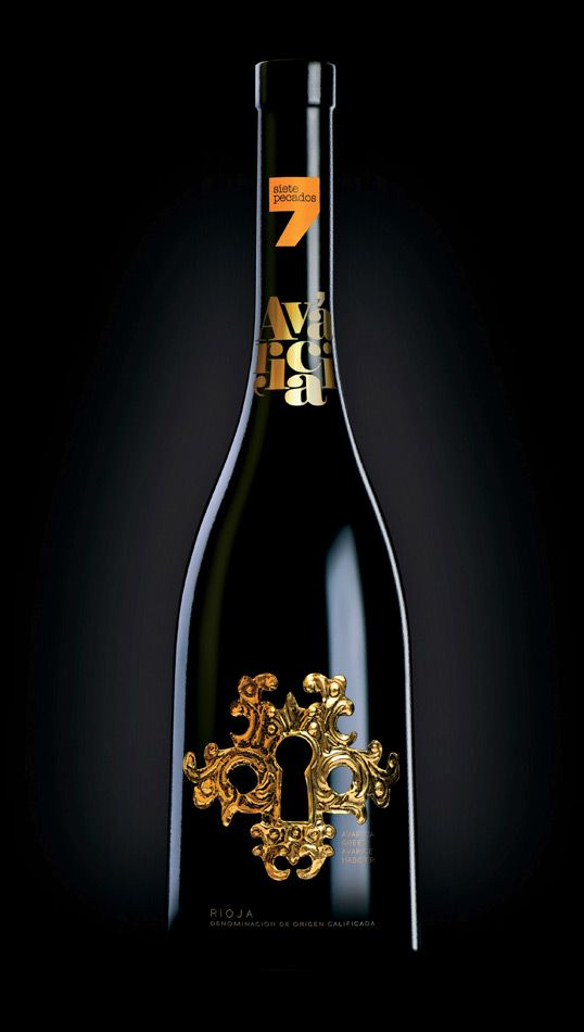 Siete Pecados #packaging #gold. #taninotanino #vinosmaximum