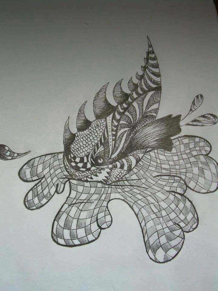 Freehand doodle turned into a fish 2008