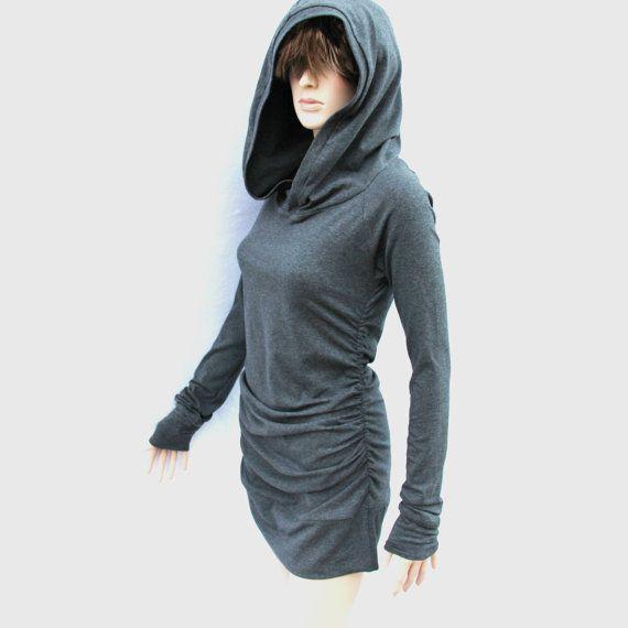 Dress short dress tunic dress plus size party Mini Dress / Tunic dress / Hoodie dress.Cool Dress.