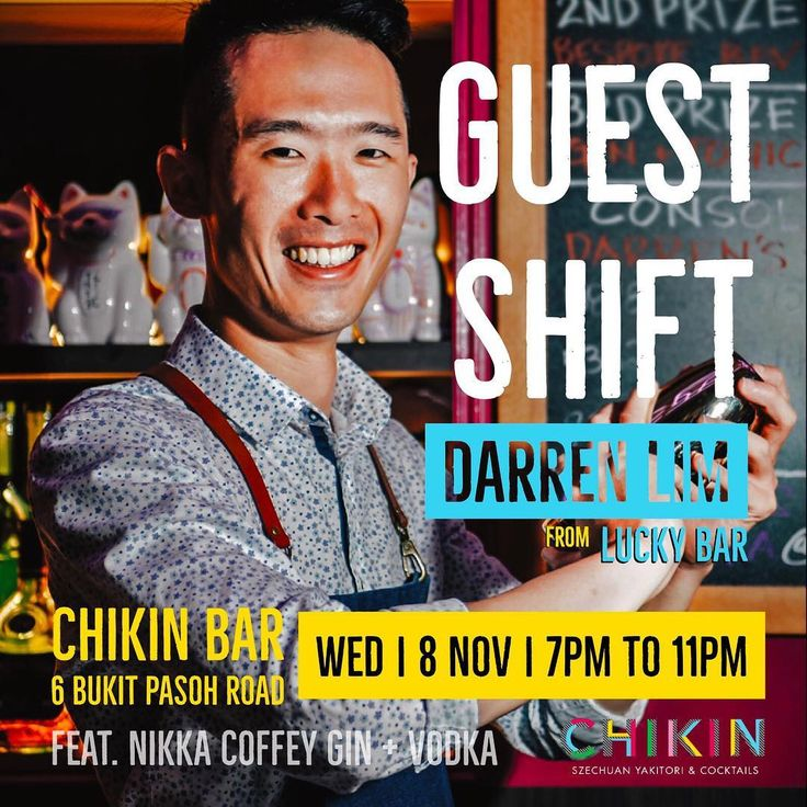 We are counting down to our inaugural Guest Bartenders! Heading the bar is Darren Lim winner of Black Cow Gold Top Cup 2017 Singapore. Having perfected his chops in Japanese mixology Darren moved on to a year of pastry training before making Lucky Bar home. Darrens speciality is in sours and his concoctions often feature fresh fruits herbs and spices.   #friyay #weekend #bubbly #bespoke #bar #bars #bartender #bartenders #booze #cocktail #cocktails #cocktailbar #cocktailbars #mixologist…