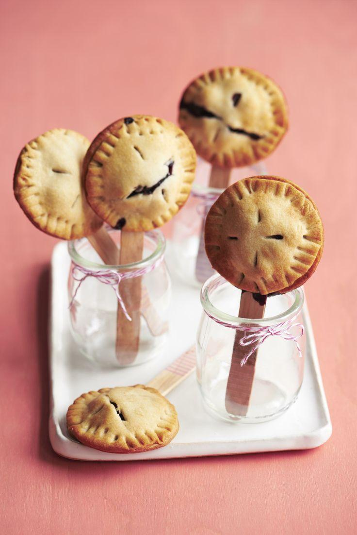 Mini Blueberry Pie Pops #desserts #myplate