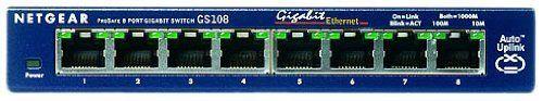 NETGEAR ProSafe GS108 8-port Gigabit Desktop Switch 10/100/1000 Mbps - switch - 8 ports - desktop - by Netgear. $74.85. Netgear GS108 8 Port 10/100/1000 Gigabit Ethernet Desktop Switch