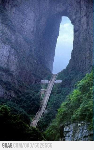 Heaven's Gate Mountain in China.