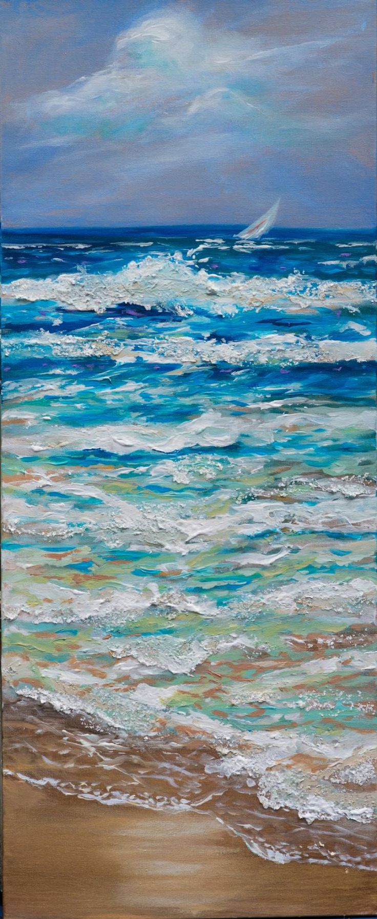 "Saatchi Art Artist Linda Olsen; Painting, ""Windy Day"" #art"