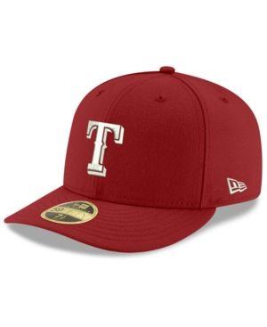 New Era Texas Rangers Low Profile C-dub 59FIFTY Cap - Red 7 3/8