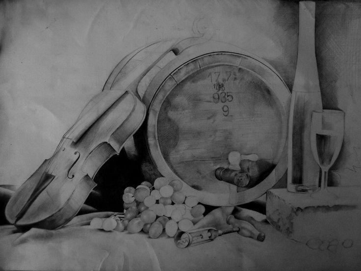 Still Life, Drawing pencil by Spizou __Hamza Moussa