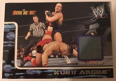 Kurt Angle wwe Fleer Royal Rumble Event Used Mat Relic 2002 John Cena