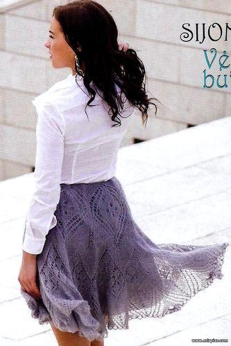 вязаная юбка, спицы, вязание,рукоделие