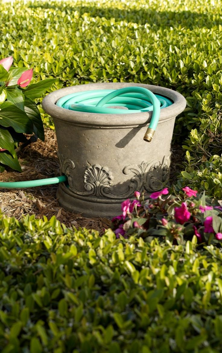 No Need To Hide This Stone Look Vienna Hose Pot Behind The Bushes.