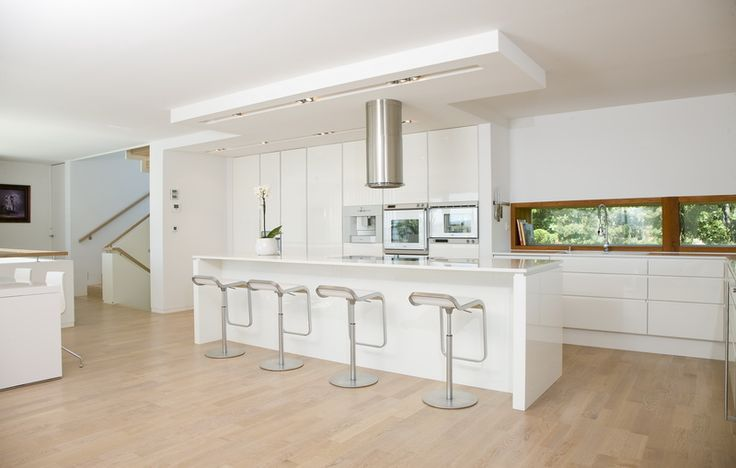 White Boform Line with appliances from Gaggenau