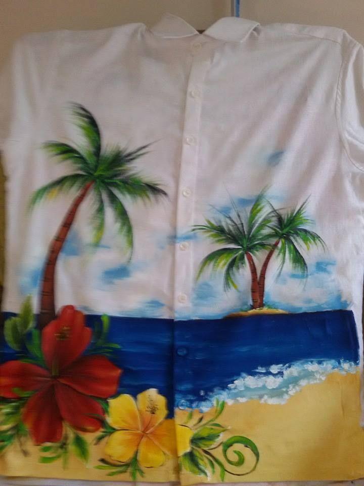 Camisa hawaianas pintada a mano por Matty Juliao