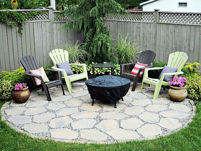 Fire Pit Patio.....we are putting this in the back yaed- if we ever get good weather