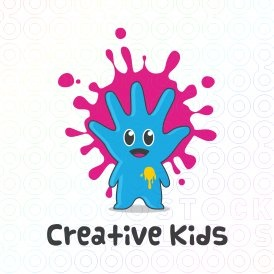 Creative Kids logo (This logo is ideal for entertainment and art company for kids and any related businesses).