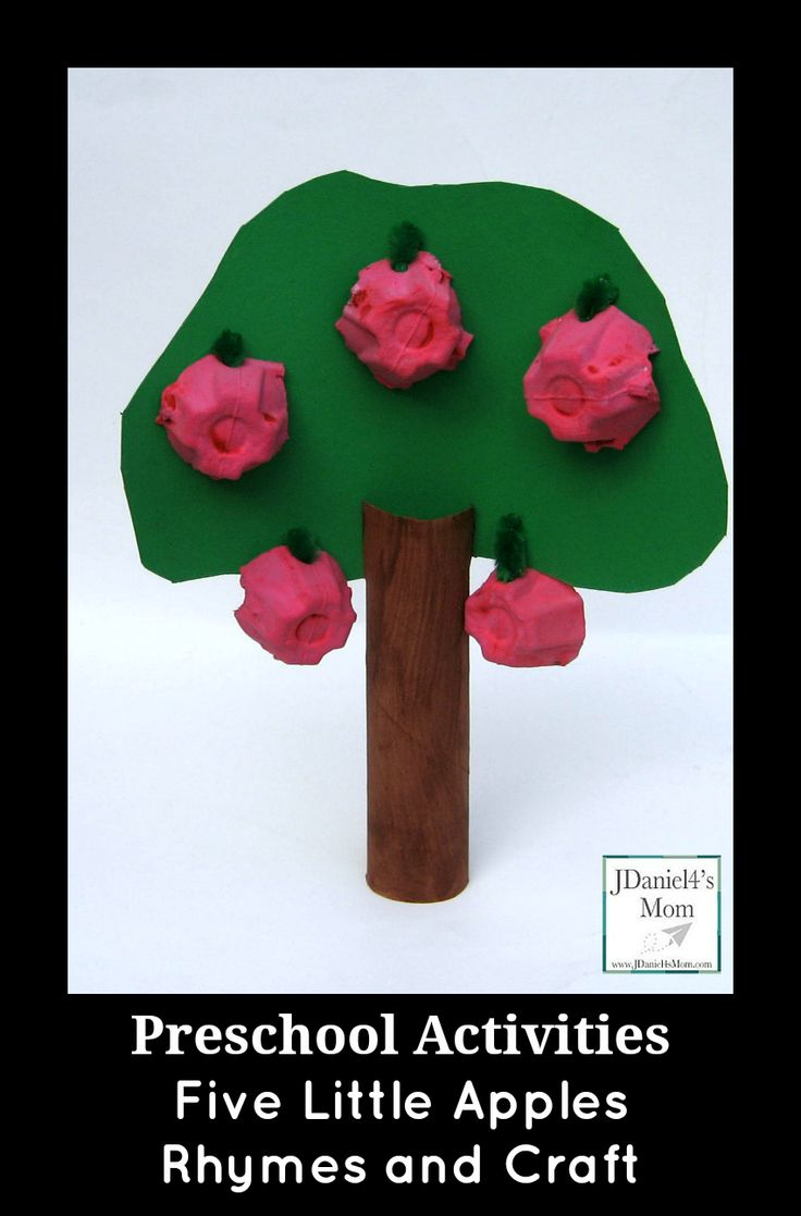 Preschool Activities- Five Little Apples Rhymes and Craft from JDaniel4's Mom