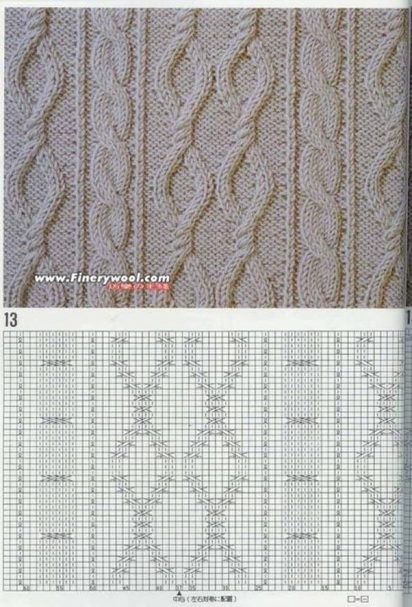 Beautiful patterns knitting Top 20 photos schemes. Discussion on LiveInternet - Russian Service Online diary