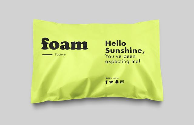 Good design makes me happy: Foam Factory Packaging by Sarah