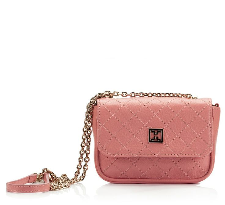 Coccinelle MINIBAG White quilted leather chain mini shoulder bag