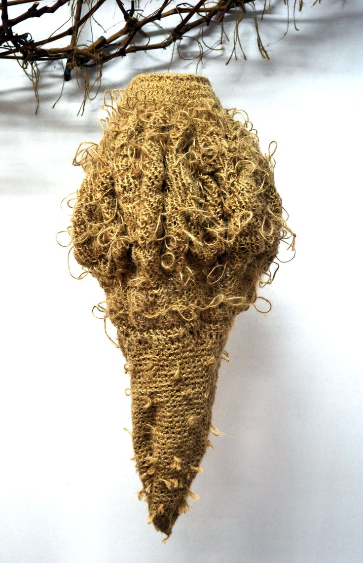 Soft Sculpture with threads of jute by Kaziale Stavroula