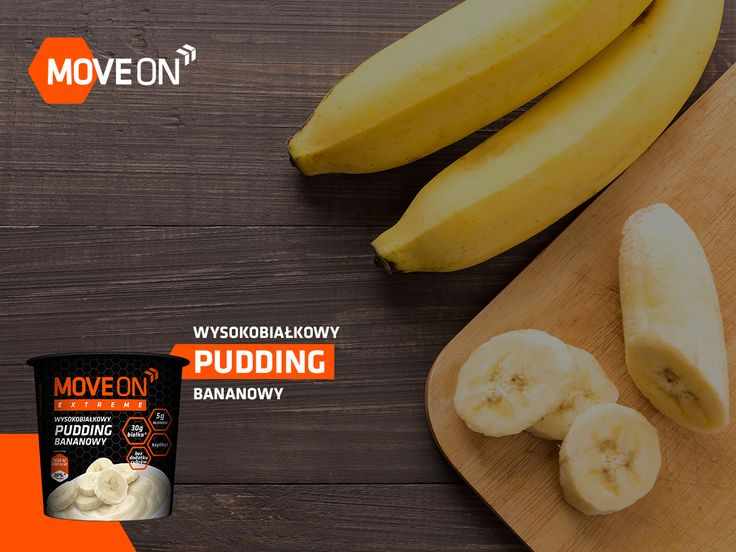 Wysokobiałkowy pudding bananowy MoveOn Extreme #diet #health #fit