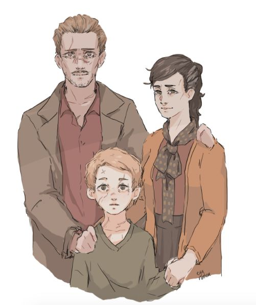 Lupin Family - Lyall, Hope and Remus