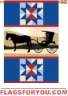 Amish Country House Flag - 2 left