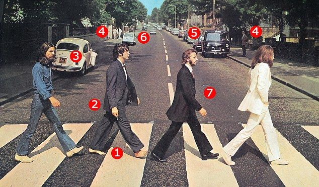 The Beatles' world-famous Abbey Road album cover that sparked a million conspiracy theories!!!