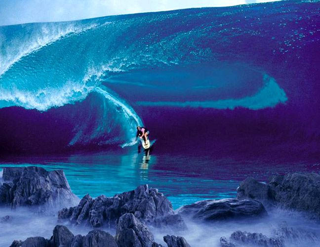 Best Waves Images On Pinterest Beach Nature And Ocean Waves - Guys sets himself on fire before surfing a huge wave