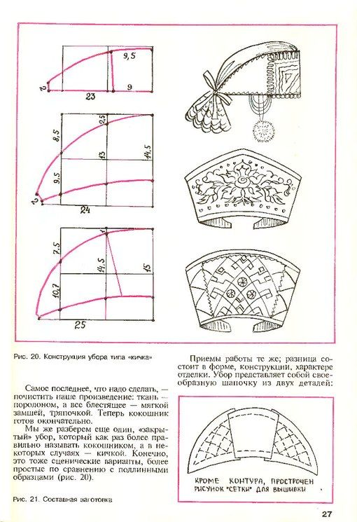 "Kokoshnik (and/or ochipok) patterns.  This is one particular sort of kokoshnik - obv. not the famous ""fan"" type..."