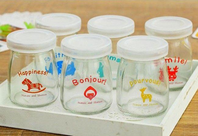 Малый пудинг молочные бутылки, Детский подарок стеклянная бутылка, мини стеклянные бутылки оптом, хорошее качество, принадлежащий категории ...
