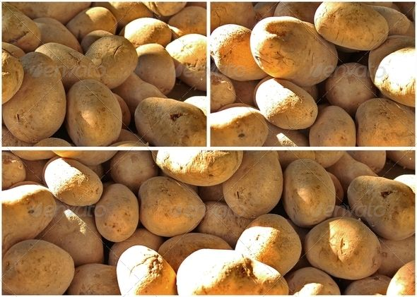 Collage of Greek Potatoes