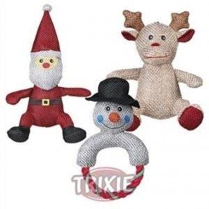 92477 Трикси Рождественская игрушка Санта Клаус/Лось/Снеговик ткань 25см (1шт.) - Интернет зоомагазин Dogstars. Купить корм для собак и кошек в Николаеве