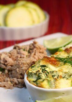 Află cum să prepari o #rețetă delicioasă și dietetică de #budincă de #dovlecel și #ton