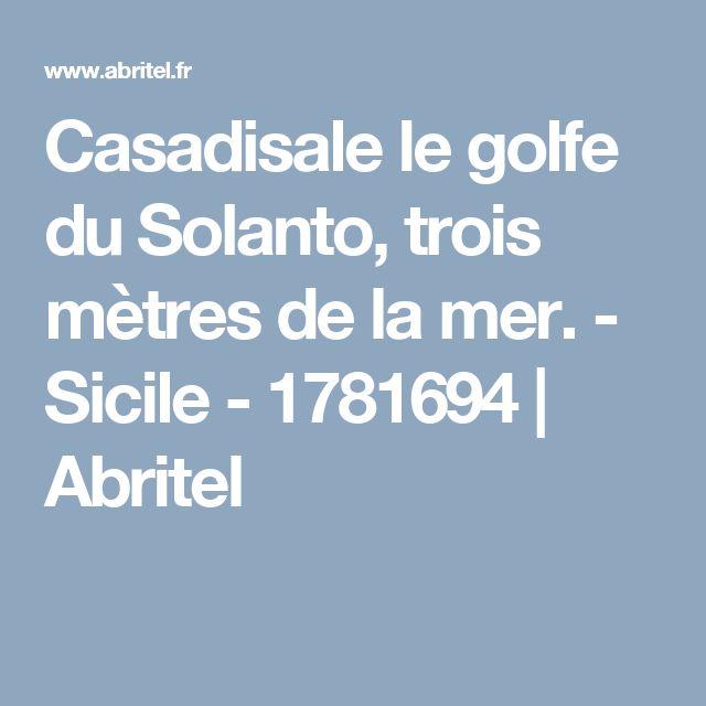 Casadisale le golfe du Solanto, trois mètres de la mer. - Sicile - 1781694 | Abritel