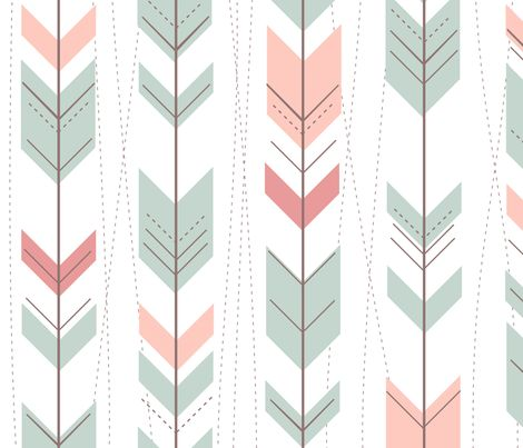 Tribal Arrows Aztec Ikat Pastels By Doucettedesigns