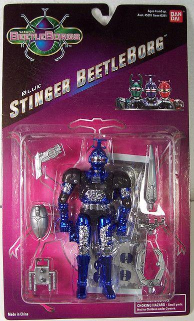 Big Bad Beetleborgs Blue Stinger figure from Bandai