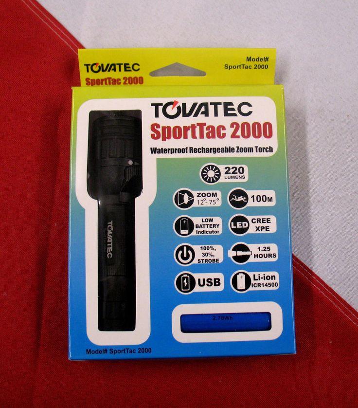 Sport tec 2000 tovatec underwater rechargable LED light with strobe scuba equip #TovatecSporttec2000