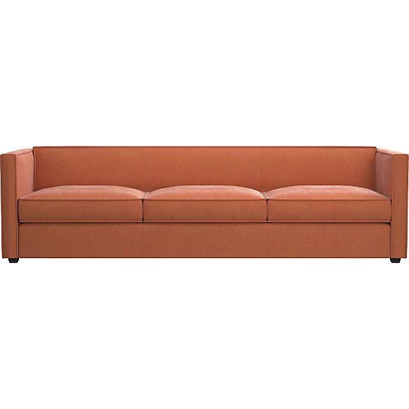 Club 3 Seater Rust Velvet Sofa Shown In Como Rust Sofa 3 Seater Sofa Modern Sofa