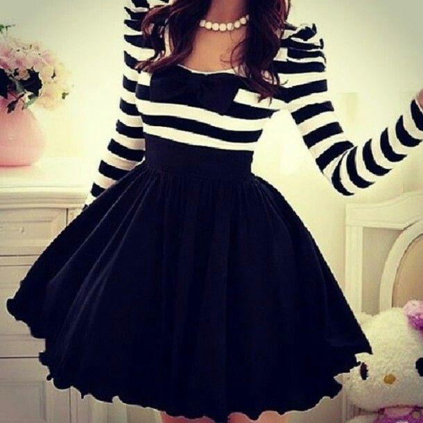 Vestito bianco e nero party