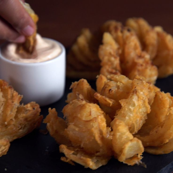 These mini bloomin' onions are so good, they'll bring a tear to your eye.