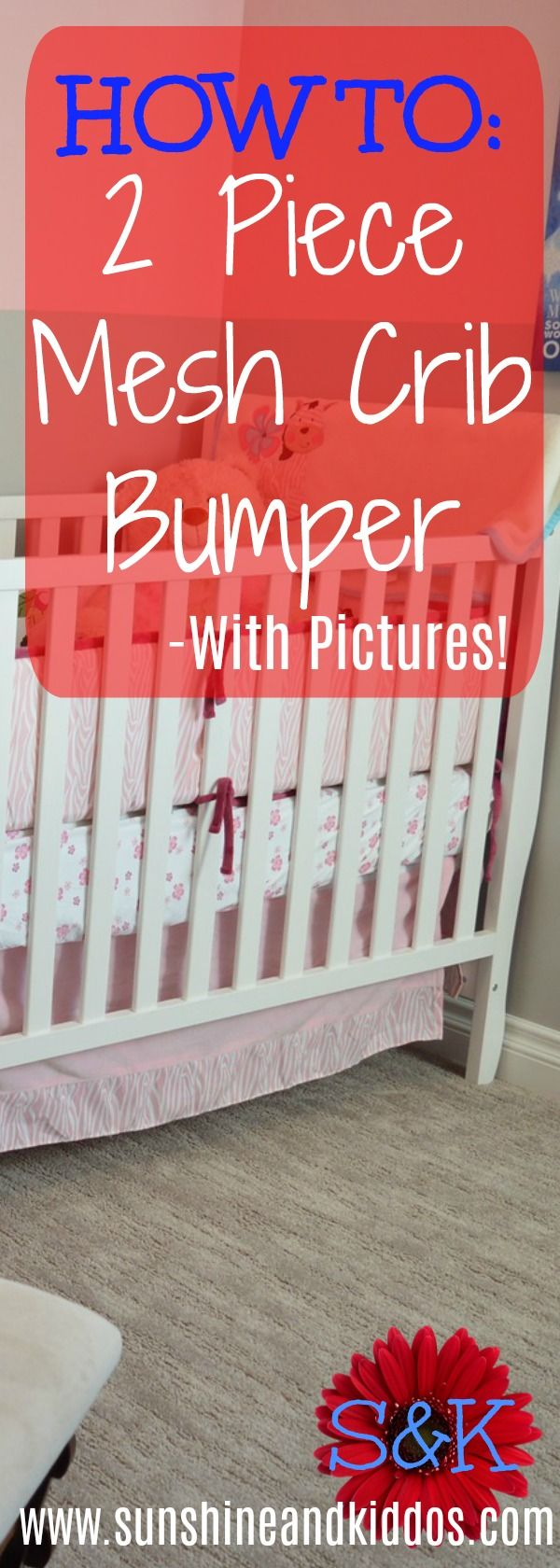 How to put on mesh crib bumper with this step by step guide. Reduce SIDS with a breathable mesh crib bumper!