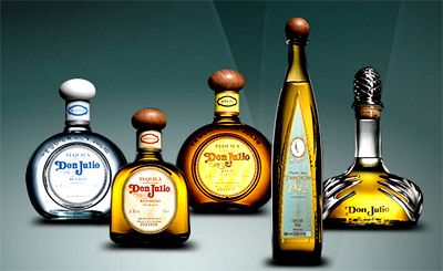 Don Julio's line of Tequila